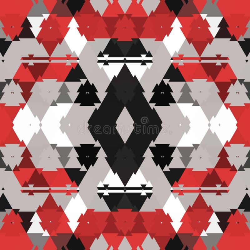 Красный конспект и цифровое искусство иллюстрация штока