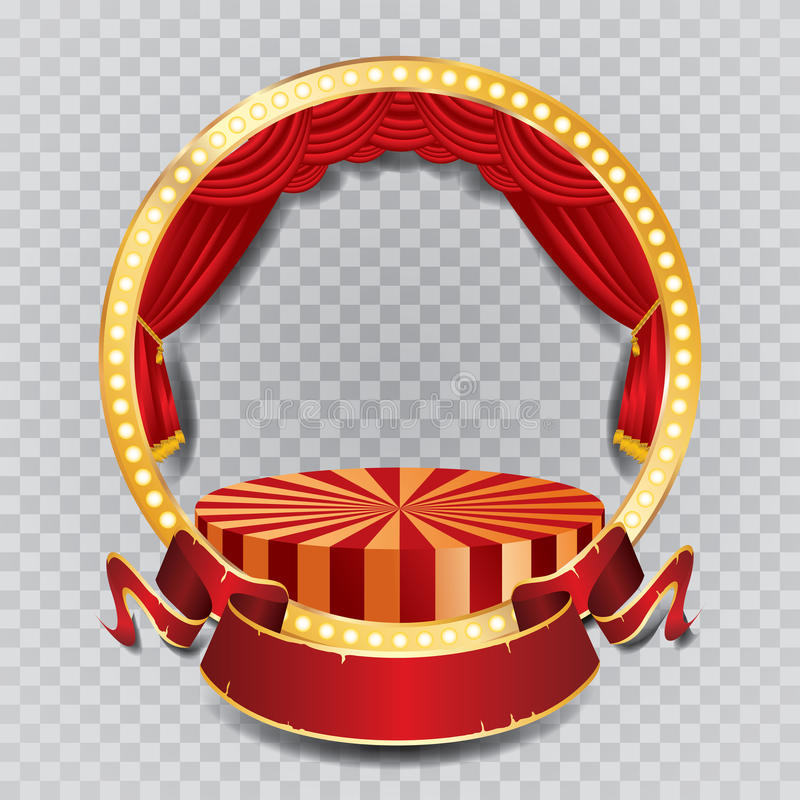 Красный круглый этап круга иллюстрация штока