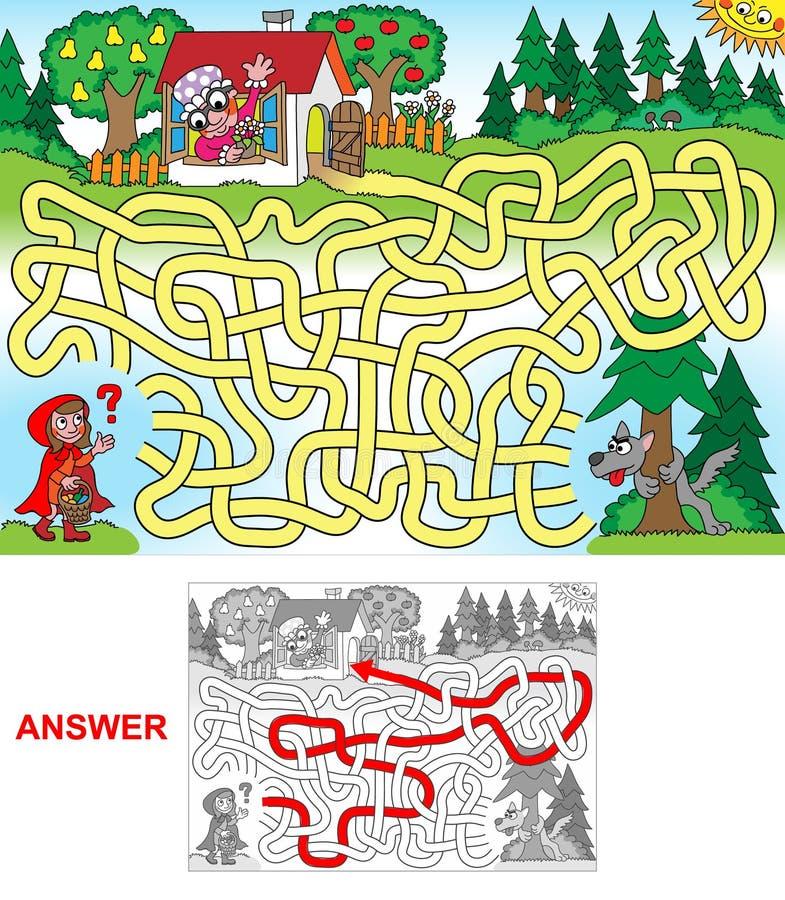 Красный клобук катания (ландшафт) иллюстрация вектора