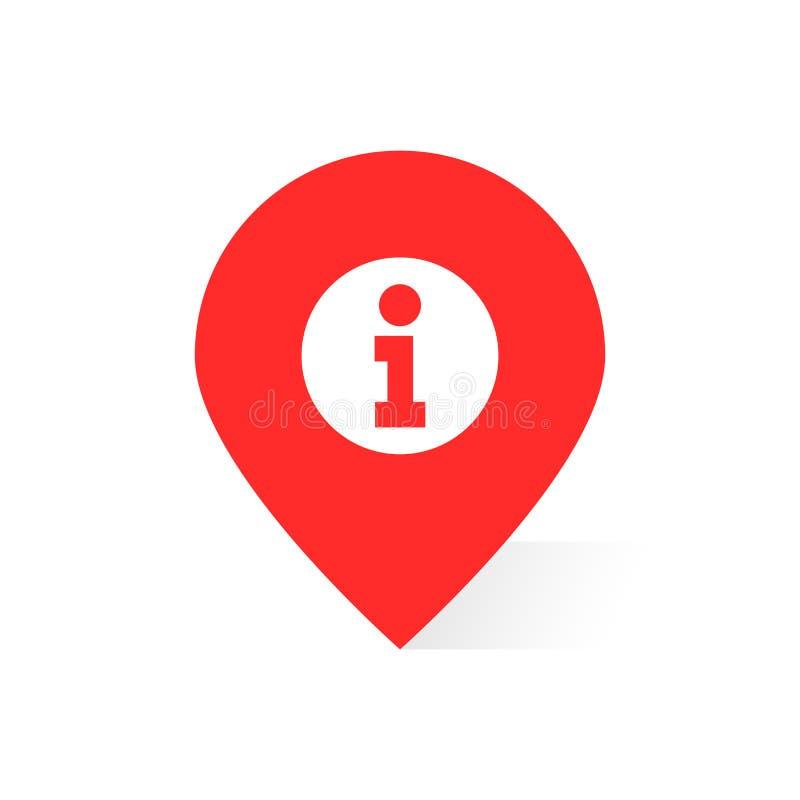 Красный логотип информации любит штырь или geotag карты бесплатная иллюстрация