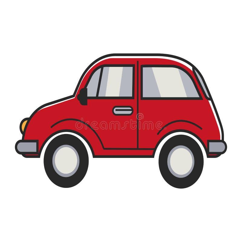 Красный малый автомобиль иллюстрация штока