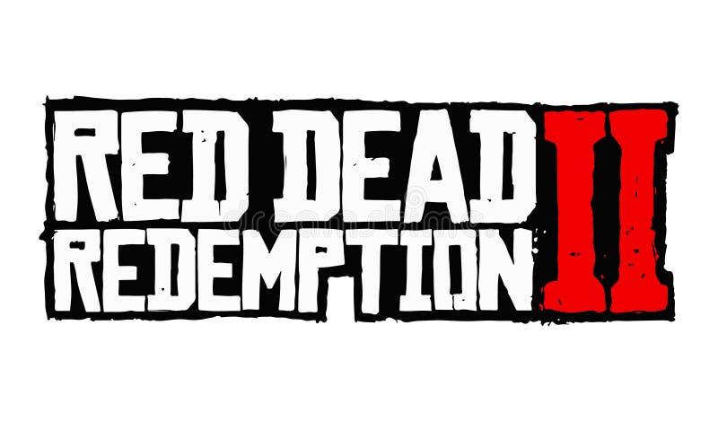 Красный мертвый вектор логотипа выкупления 2 иллюстрация штока