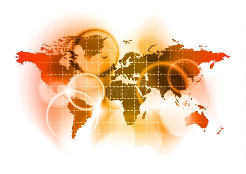 красный мир иллюстрация вектора
