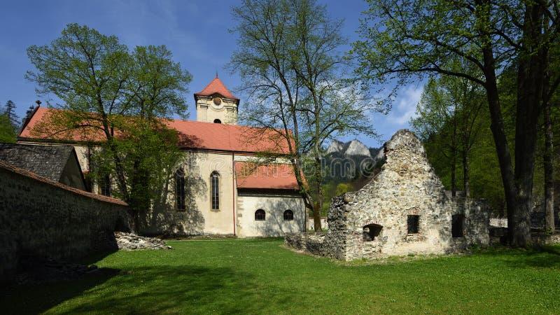 Красный музей монастыря, зона Spis, Словакия стоковое изображение rf
