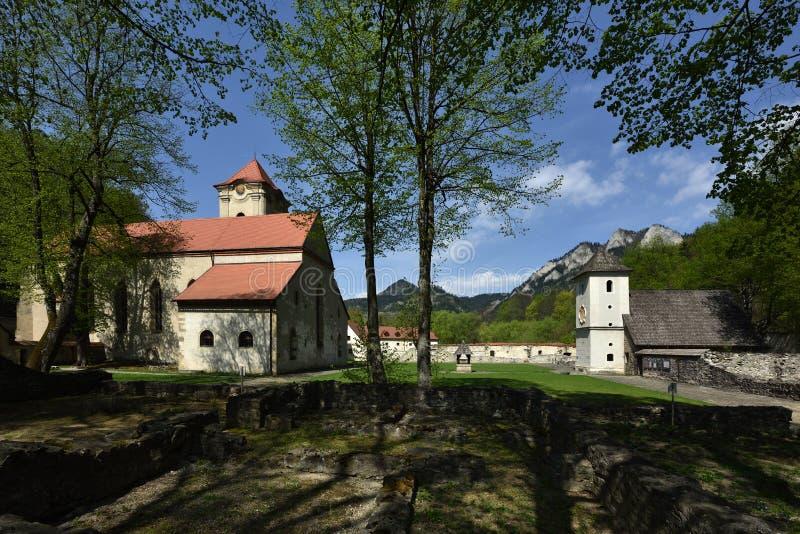 Красный музей монастыря, зона Spis, Словакия стоковое фото rf