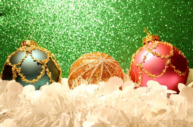 Красный орнамент рождества с золотом стоковое фото rf