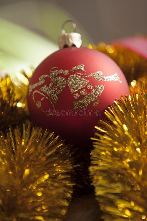 Красный орнамент рождества стоковое фото