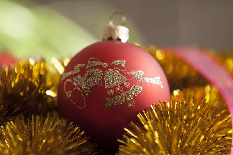 Красный орнамент рождества стоковые фото