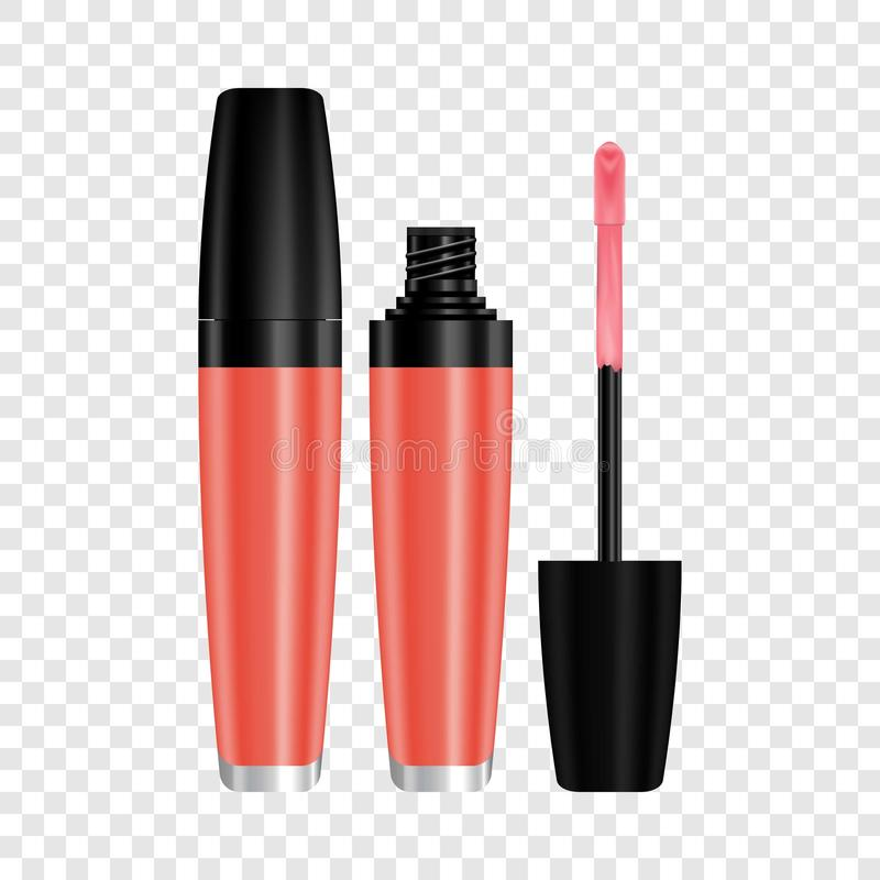 Красный лоск для модель-макета губ, реалистический стиль иллюстрация вектора