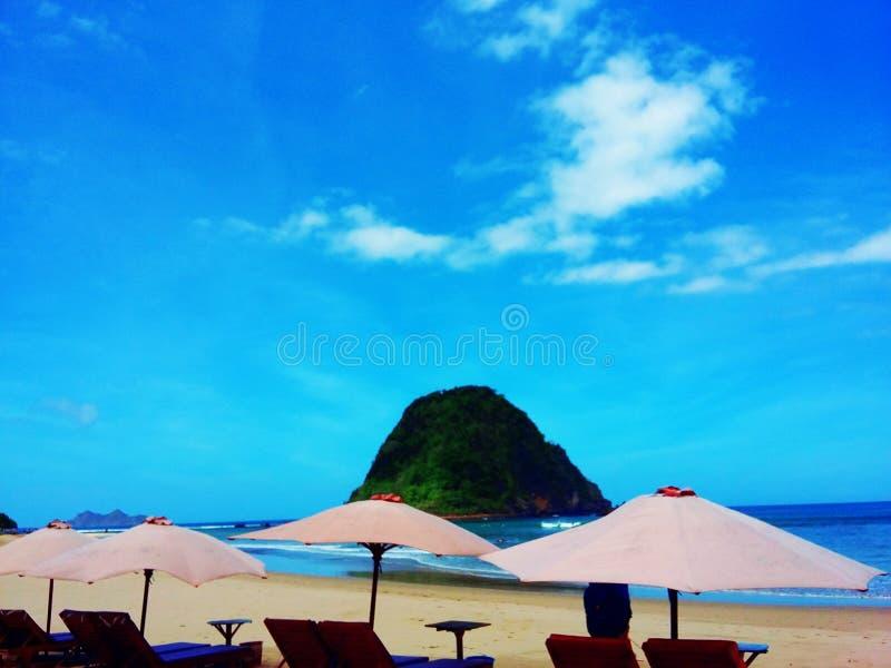 Красный остров стоковая фотография rf