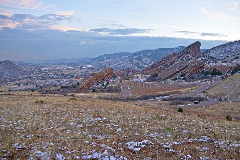 Красный парк Колорадо утесов стоковые фото