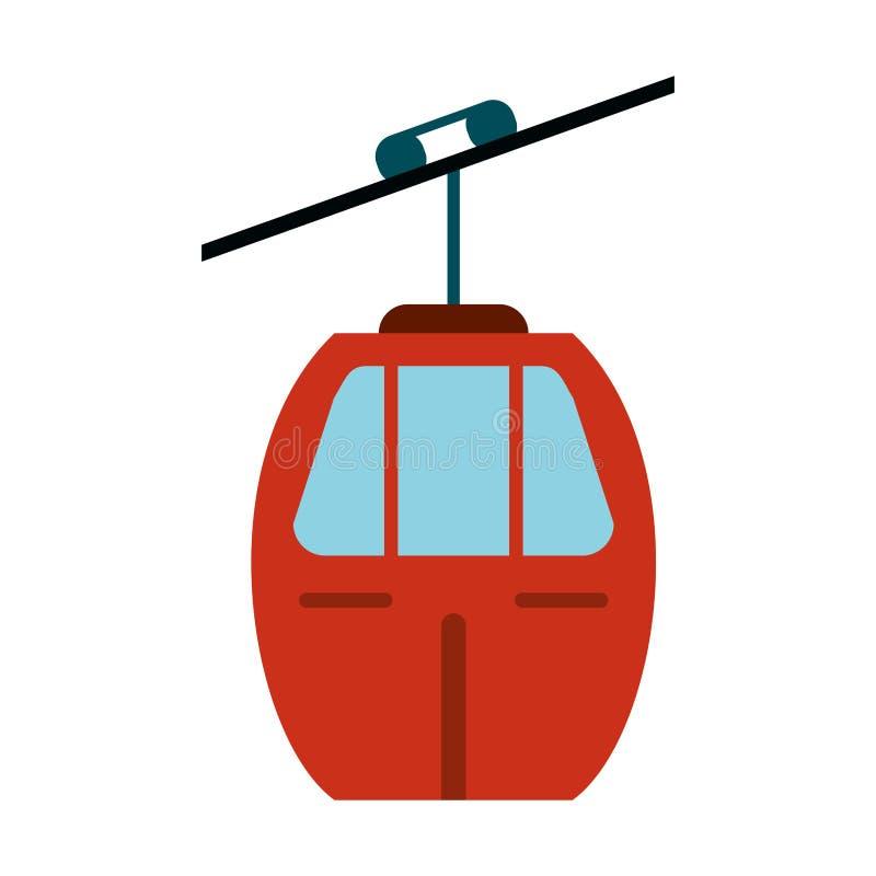 красный переход фуникулера иллюстрация вектора