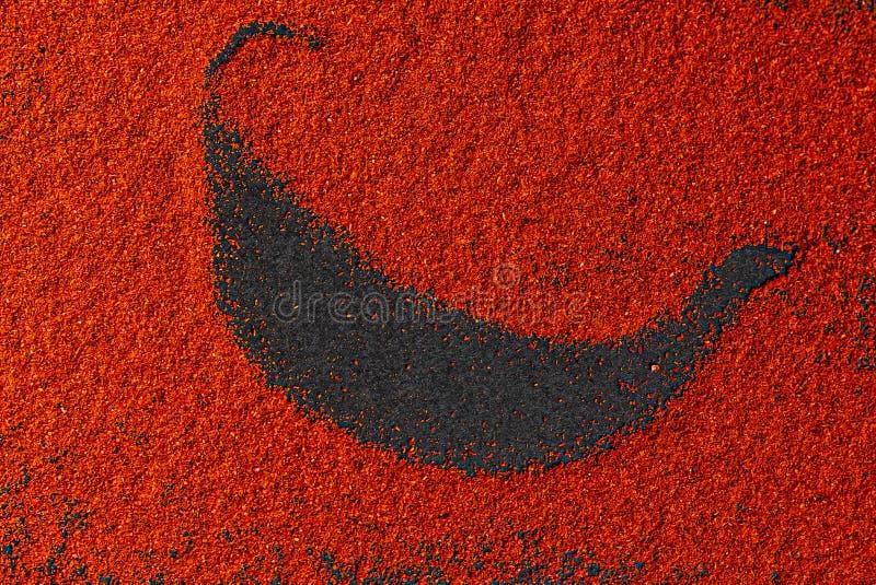 Красный перец на черном фоне Просмотр сверху стоковая фотография