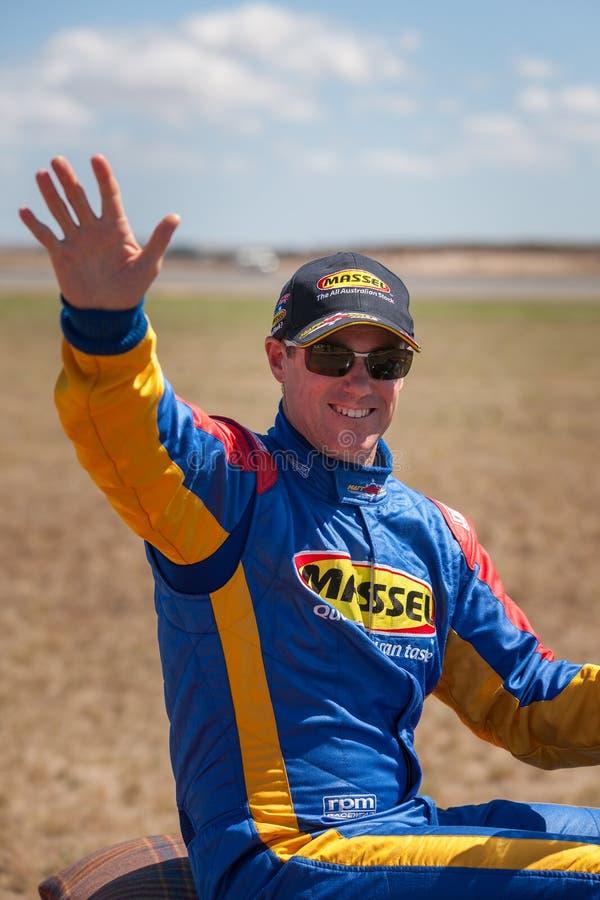 Красный пилот Matt Hall гоночного полета Bull стоковые фото