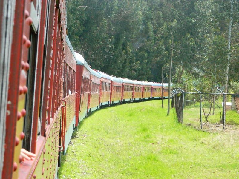 красный поезд стоковое фото rf