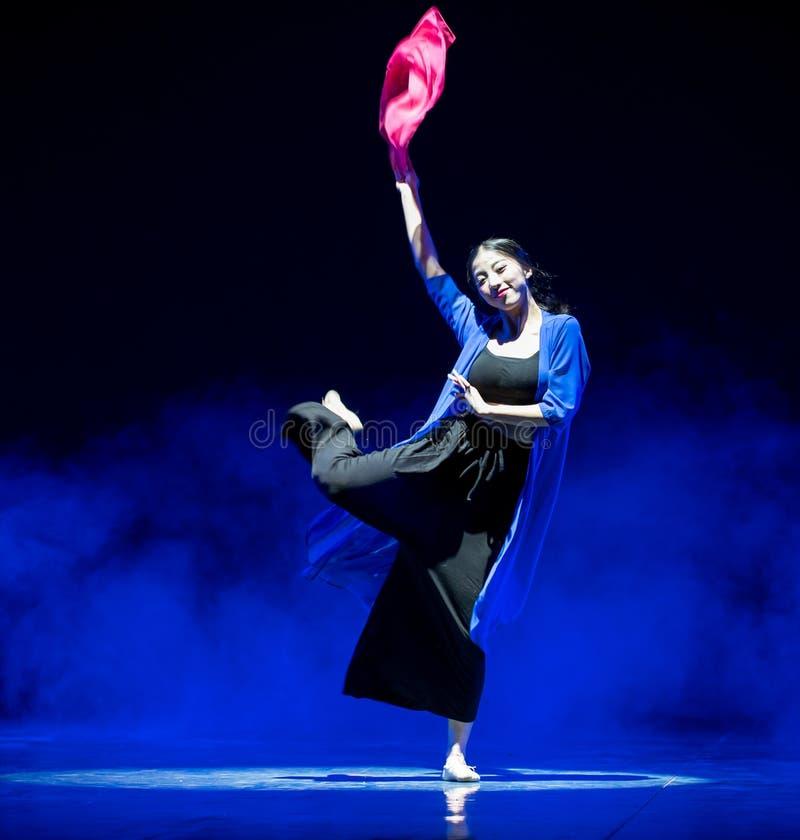 Красный пряж-современный танец стоковое изображение rf