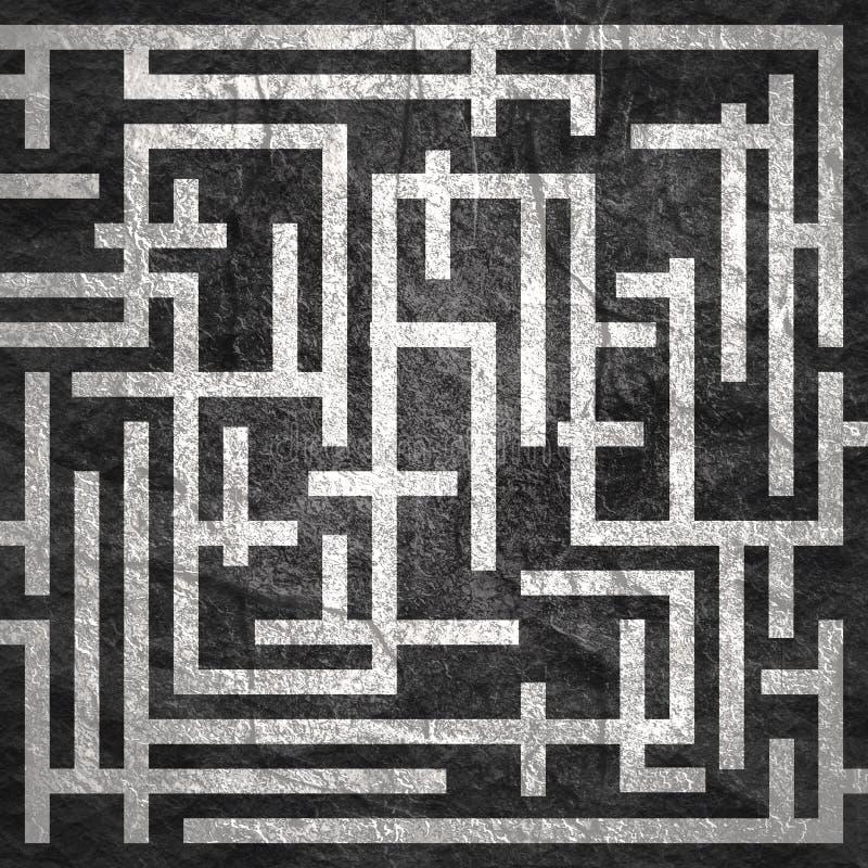 Красный путь через лабиринт стоковое фото