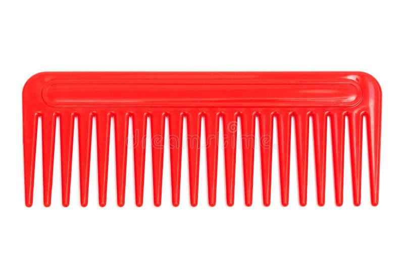 Красный пластичный гребень стоковые фотографии rf