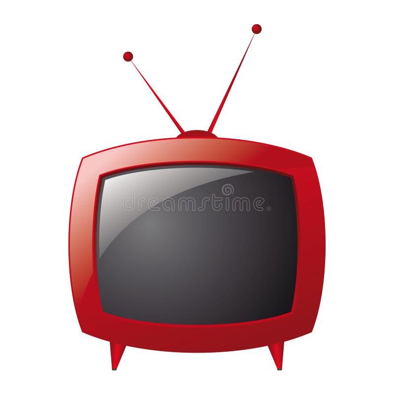 красный ретро вектор телевидения бесплатная иллюстрация