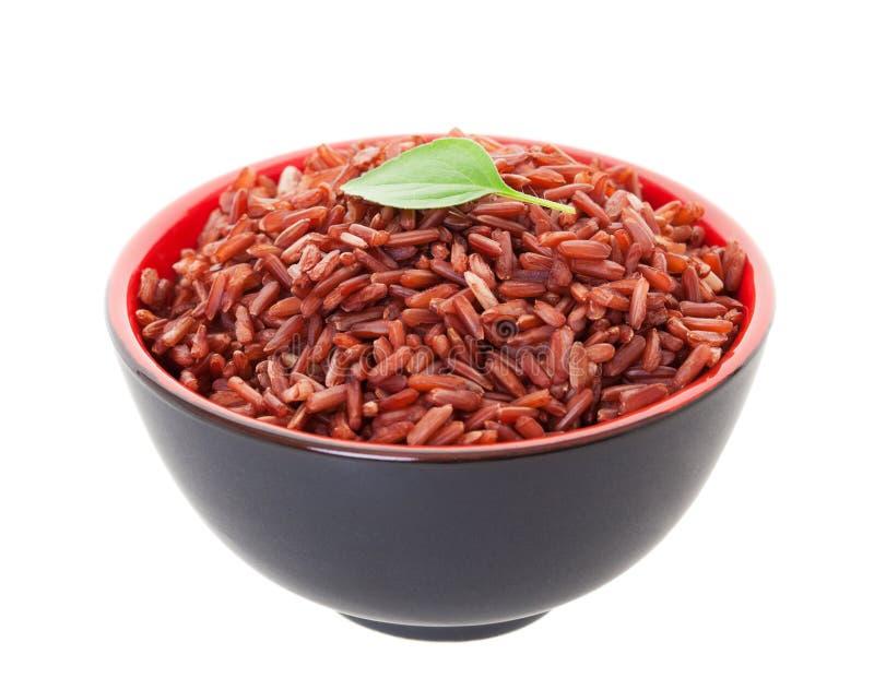 Красный рис груза стоковое фото rf