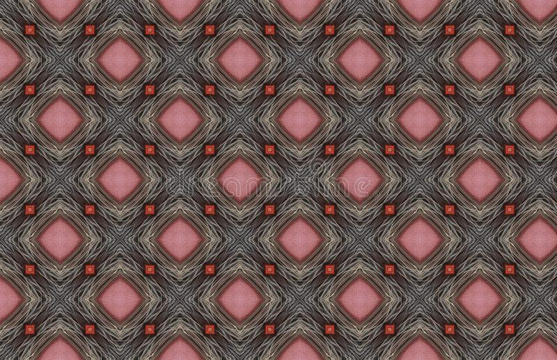 Красный розовый серебр связывает проволокой геометрический дизайн картины иллюстрация штока