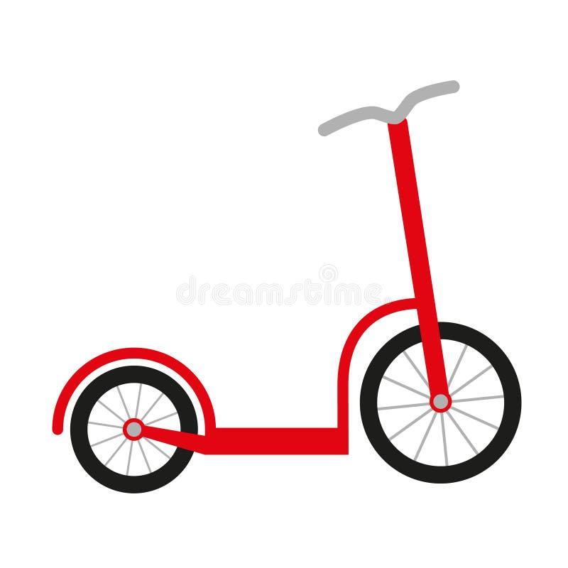 Красный самокат бесплатная иллюстрация