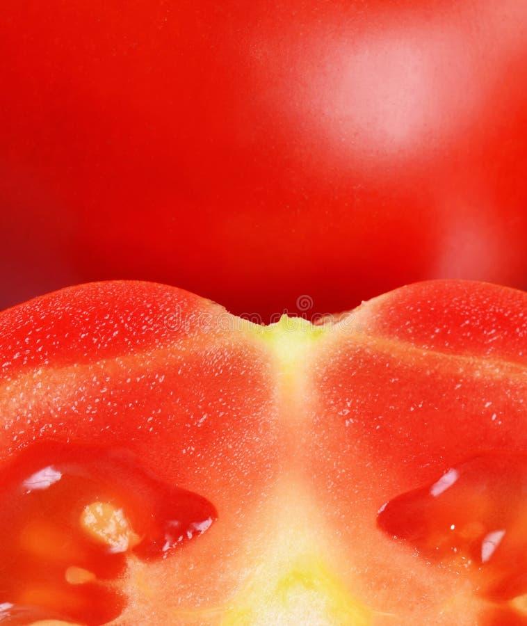 Красный свежий отрезок томатов стоковые фотографии rf