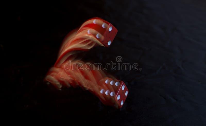 Красный свертывать кости стоковая фотография rf
