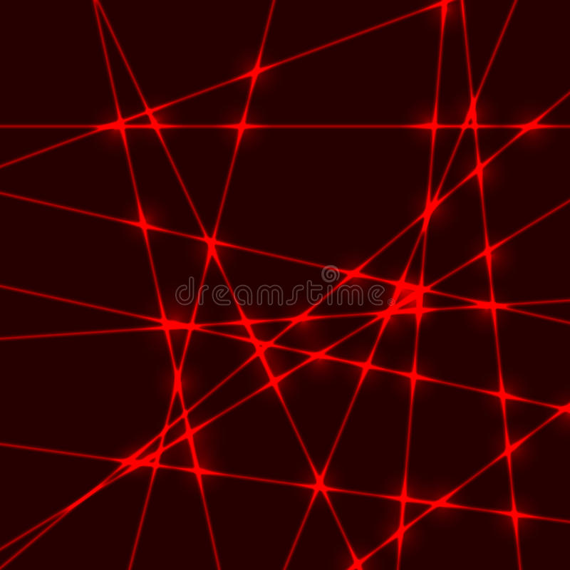 Красный световой луч лазерного луча стоковые изображения