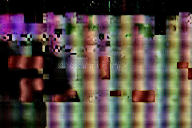 Красный светодиод ТВ иллюстрация штока