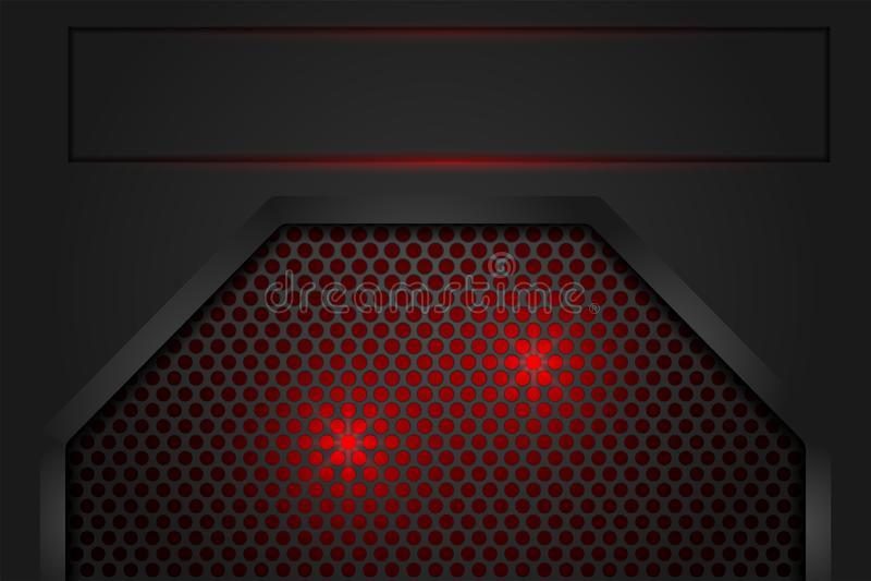 Красный свет в сером тени сетки темное как предпосылка бесплатная иллюстрация