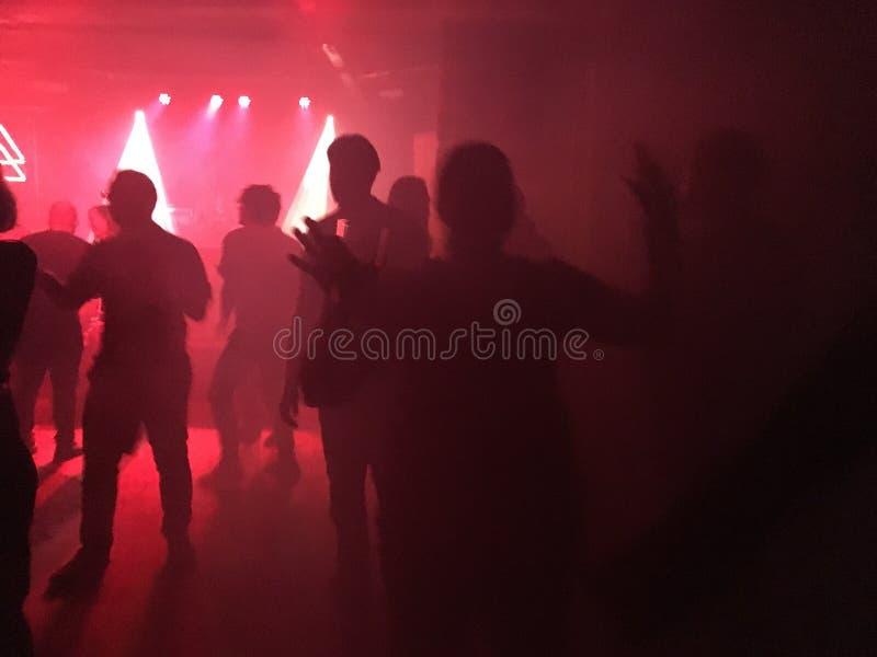 Красный свет ночного клуба стоковые фотографии rf