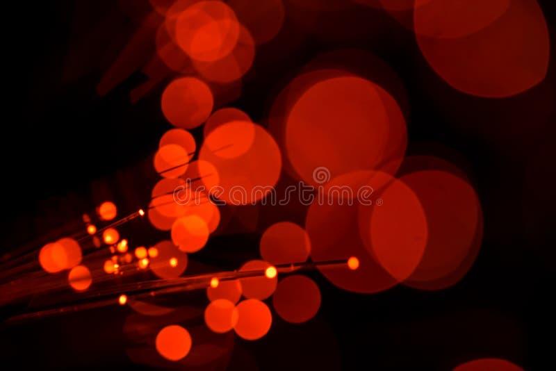 Красный свет с волоконной оптикой стоковые изображения rf