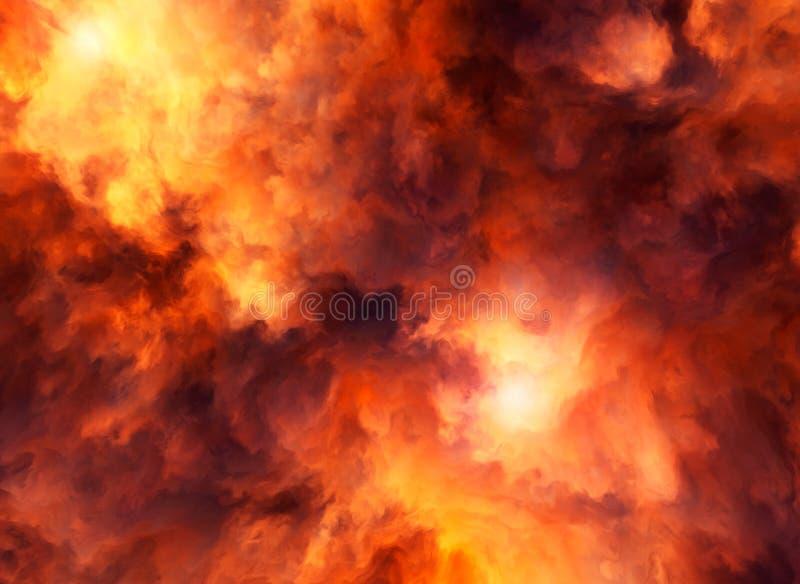 Красный свирепствовать шторма иллюстрация штока