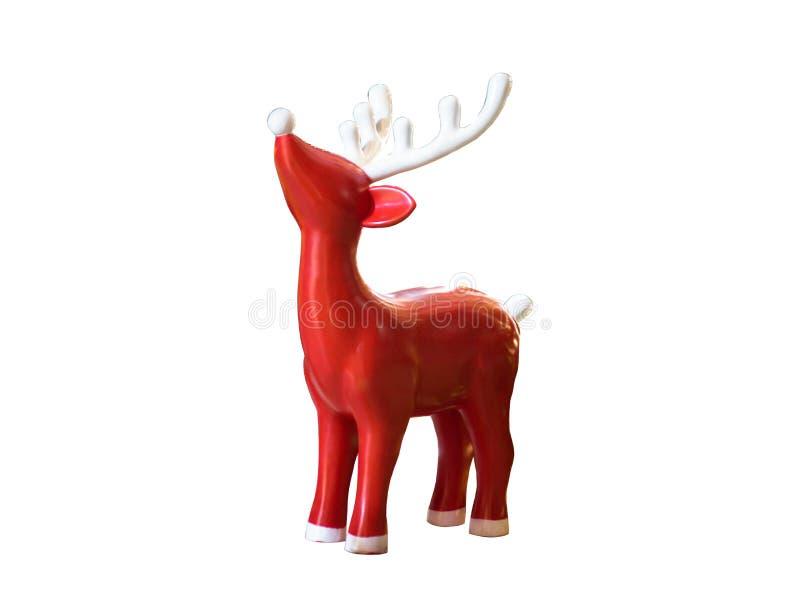 красный северный олень вал снежка орнамента рождества тросточки конфеты стоковая фотография rf
