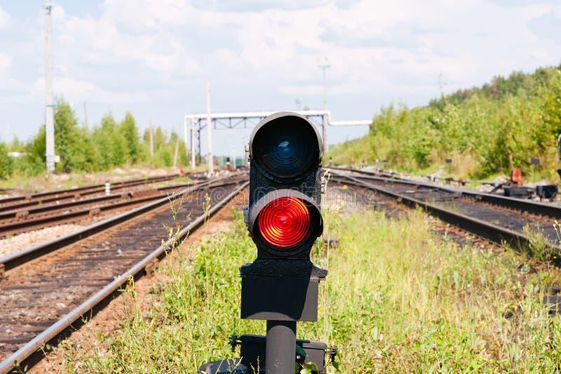 Красный сигнал стоковые изображения rf