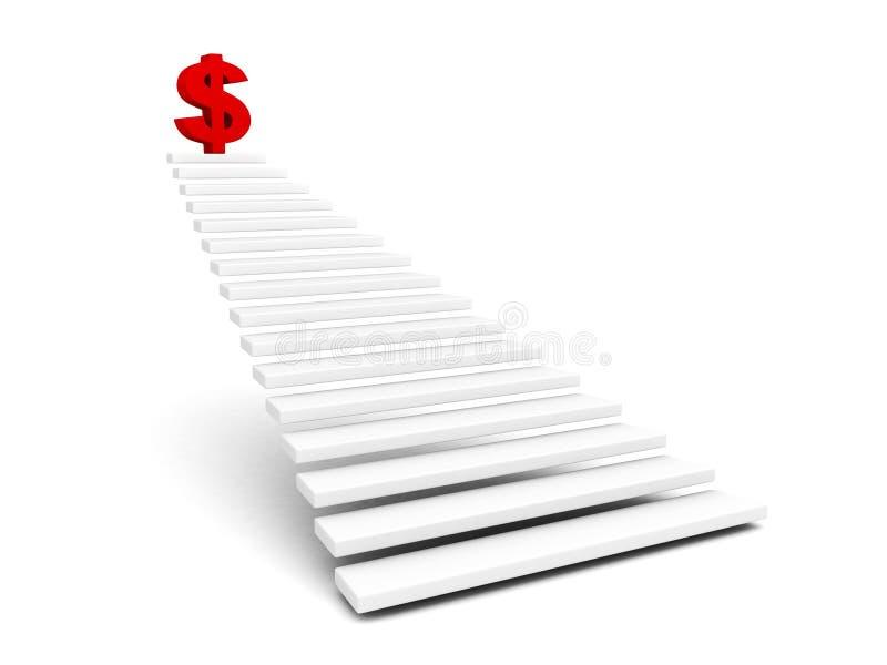 Download Красный символ доллара Na Górze лестницы Иллюстрация штока - иллюстрации насчитывающей валюта, иноходи: 40577455