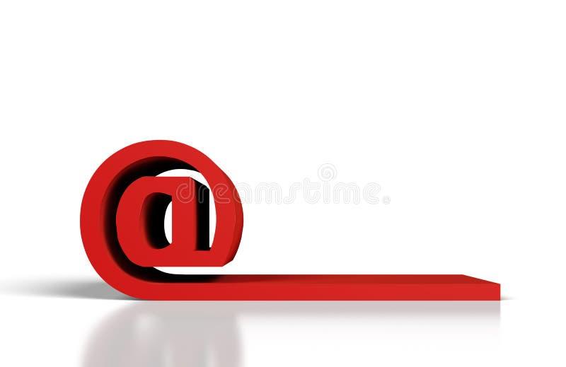 Красный символ электронной почты иллюстрация штока
