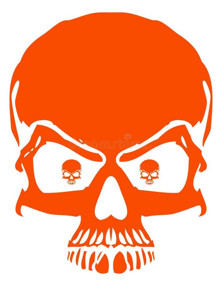 красный скелет иллюстрация штока
