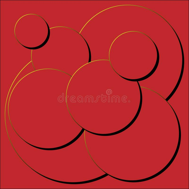 Красный стог круга с черной тенью стоковое фото rf