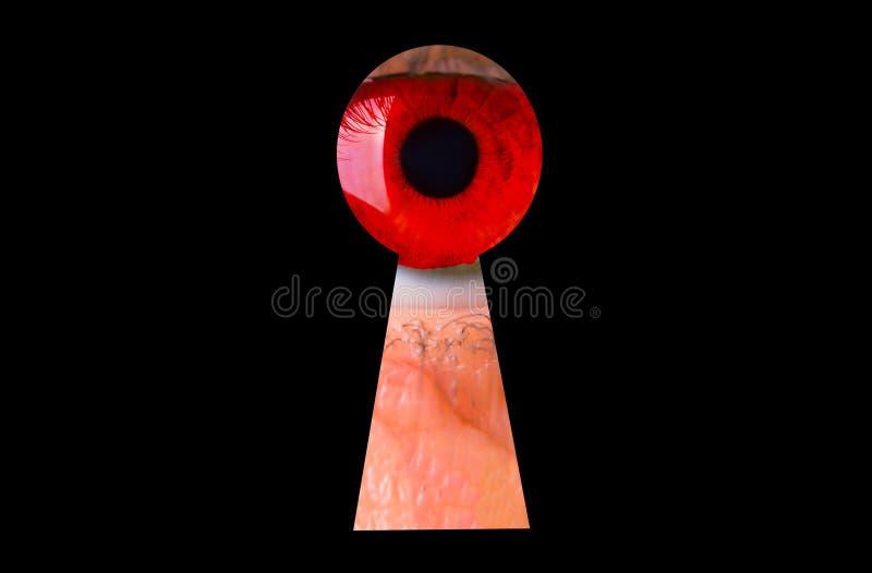 Красный страшный глаз стоковые фотографии rf
