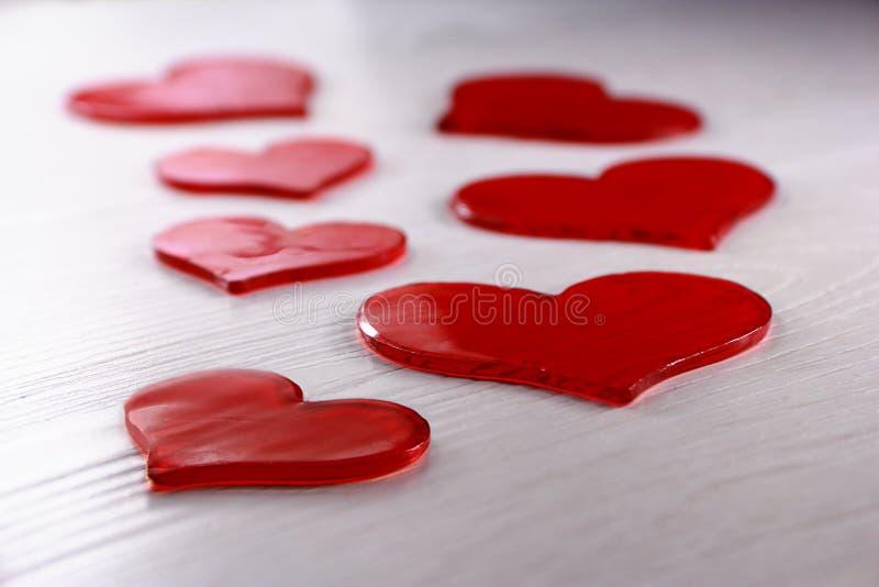 Красный студень сердца стоковая фотография rf
