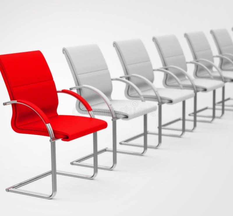 Красный стул иллюстрация вектора