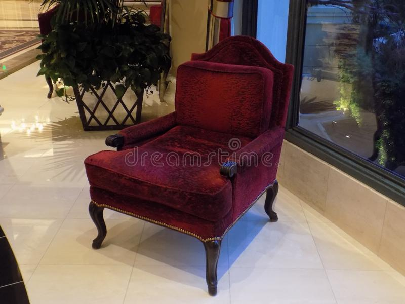 Красный стул стоковые изображения rf