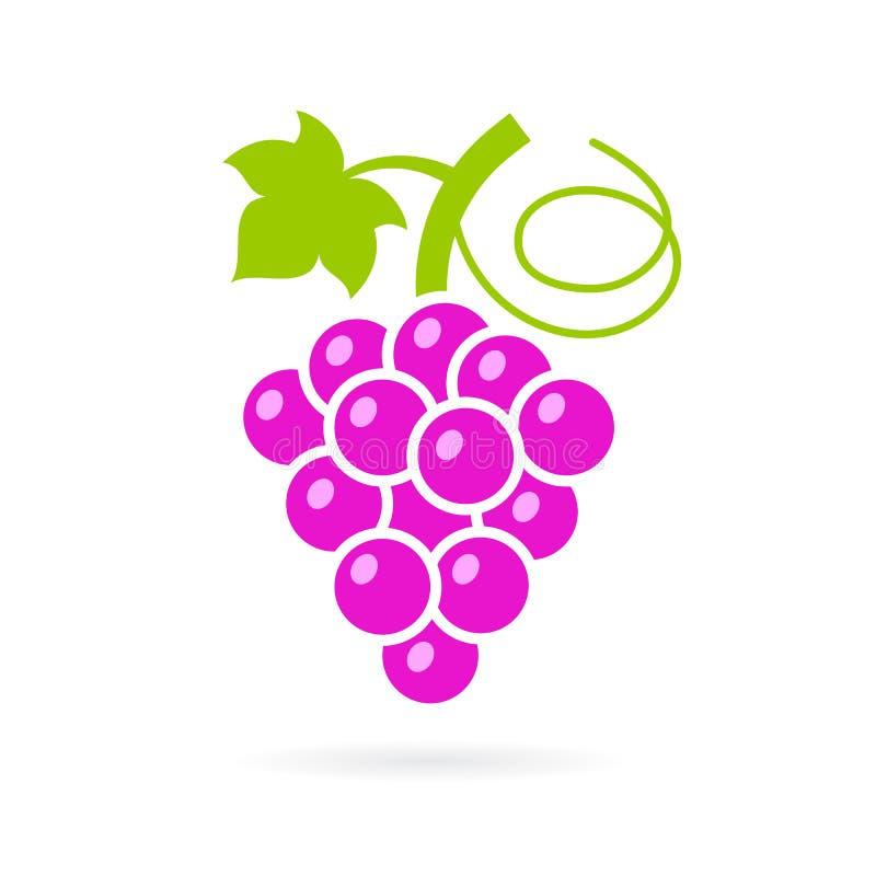 Красный сладостный значок вектора виноградины иллюстрация вектора