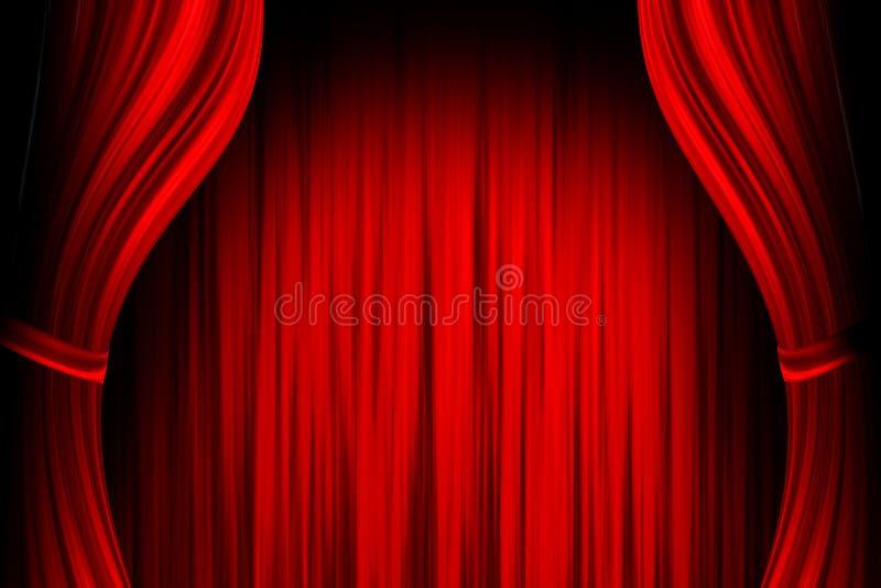 красный театр этапа иллюстрация вектора
