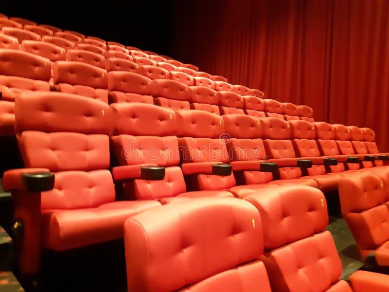 Красный театр Hall стоковое изображение rf