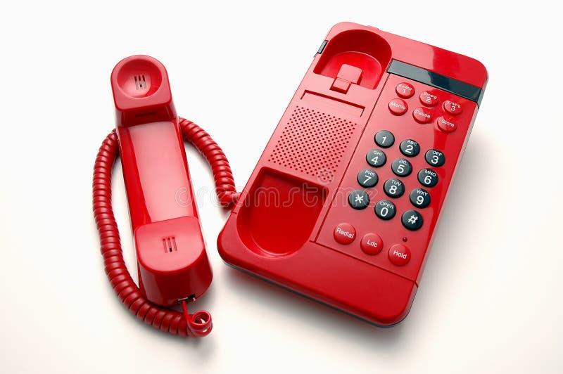 Красный телефон линии связи между главами правительств стоковые фотографии rf