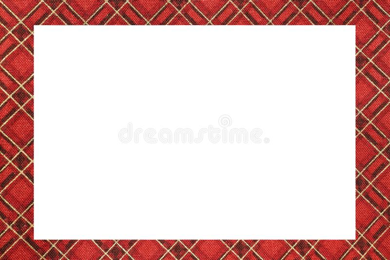 красный тип шотландская рамка тартана с белым космосом для записи mes бесплатная иллюстрация