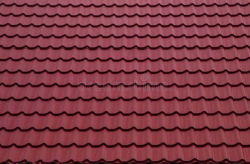 Красный толь от нержавеющей металлической пластины, плитки металла стоковые изображения